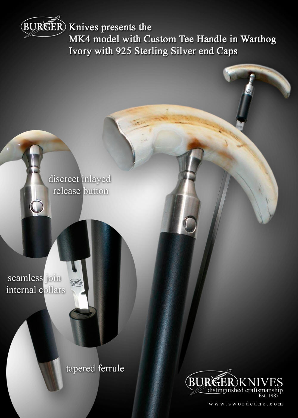 Welcome to the Official Web Site of Burger Sword Canes-Walking